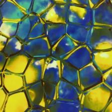 Limit Edition - Printet lycra Ocean blue/turquoise/yellow