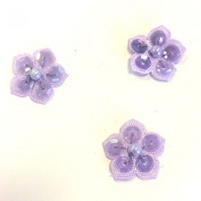 Små pailletblomster Lilac