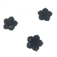 Små pailletblomster Black