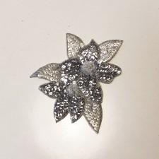 Pailletmotiv Silver