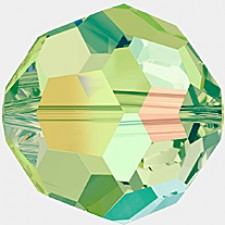 Crystal round bead 8 mm. Peridot AB 'FC'