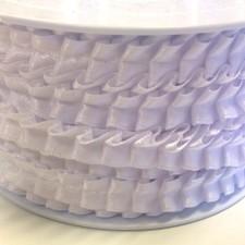 Plisee satinbånd 1 cm White