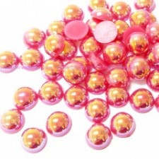 6 mm. Lipstick AB - Halve perler