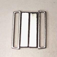 Bikini lukning 25 mm Sølv