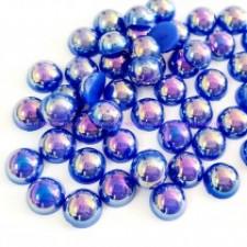 6 mm. Sapphire AB - Halve perler