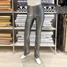Glimmer bukser str. 12 år Sort/Sølv hologram