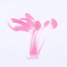 Fjer på stilk Fluo pink 10 stk