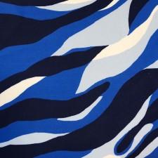 Tiger Lycra i blå nuancer