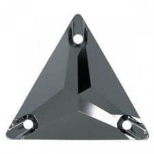 Triangle 22 mm Jet Hematite