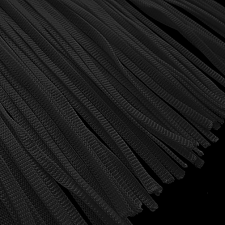 Tube fryns 25 cm. Black