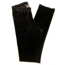 Sorte velourbukser med lige ben til Piger