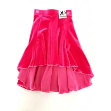 Nederdel i baner - Flamingo Pink Velour