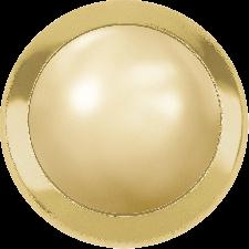 Crystal Half Pearls - Golden shadow ss34 med guldkant