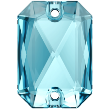Emerald Cut 20 x 14 mm. Aquamarine fra Swarovski