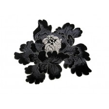 Passion Embroded flower Steelgray ---