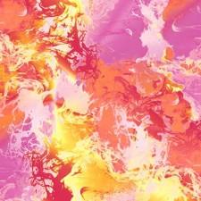 Mønstret lycra Pinke/orange nuancer