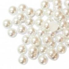 12 mm. White - Halve perler